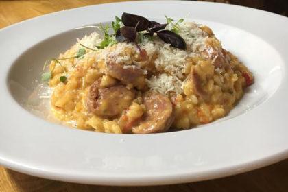 Italian sausage risotto